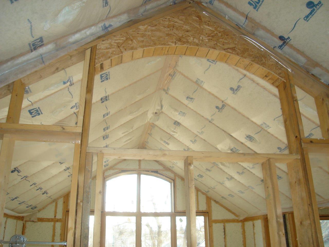 jm spider installed in vaulted ceiling