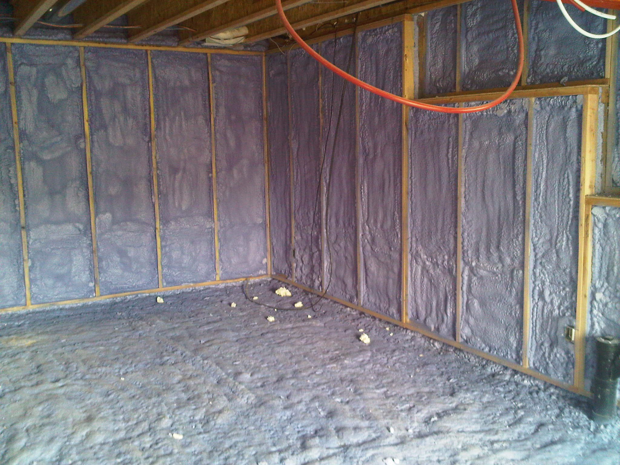 spray foam insulation - walls & floor 1