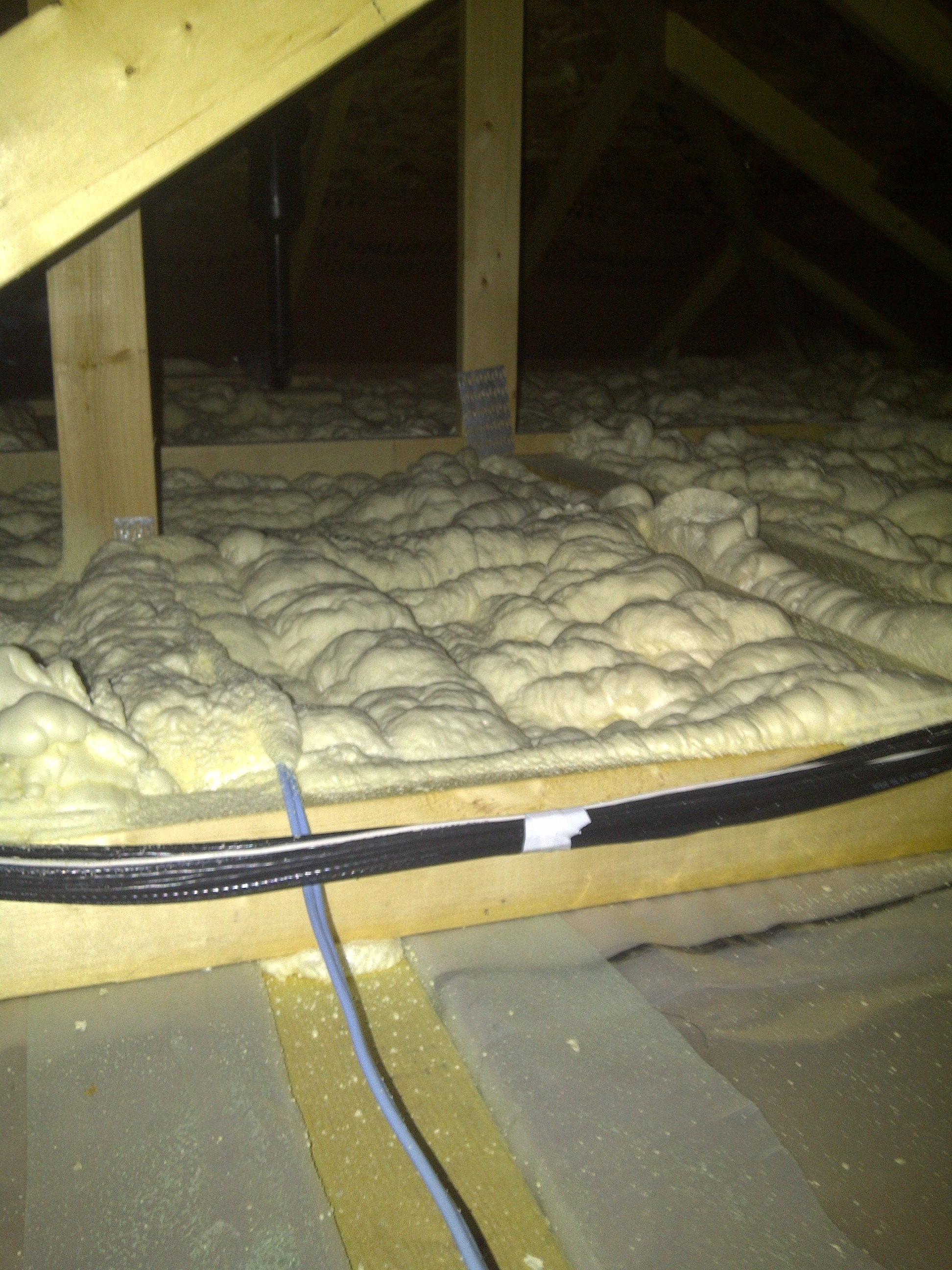 1/2lb spray foam attic