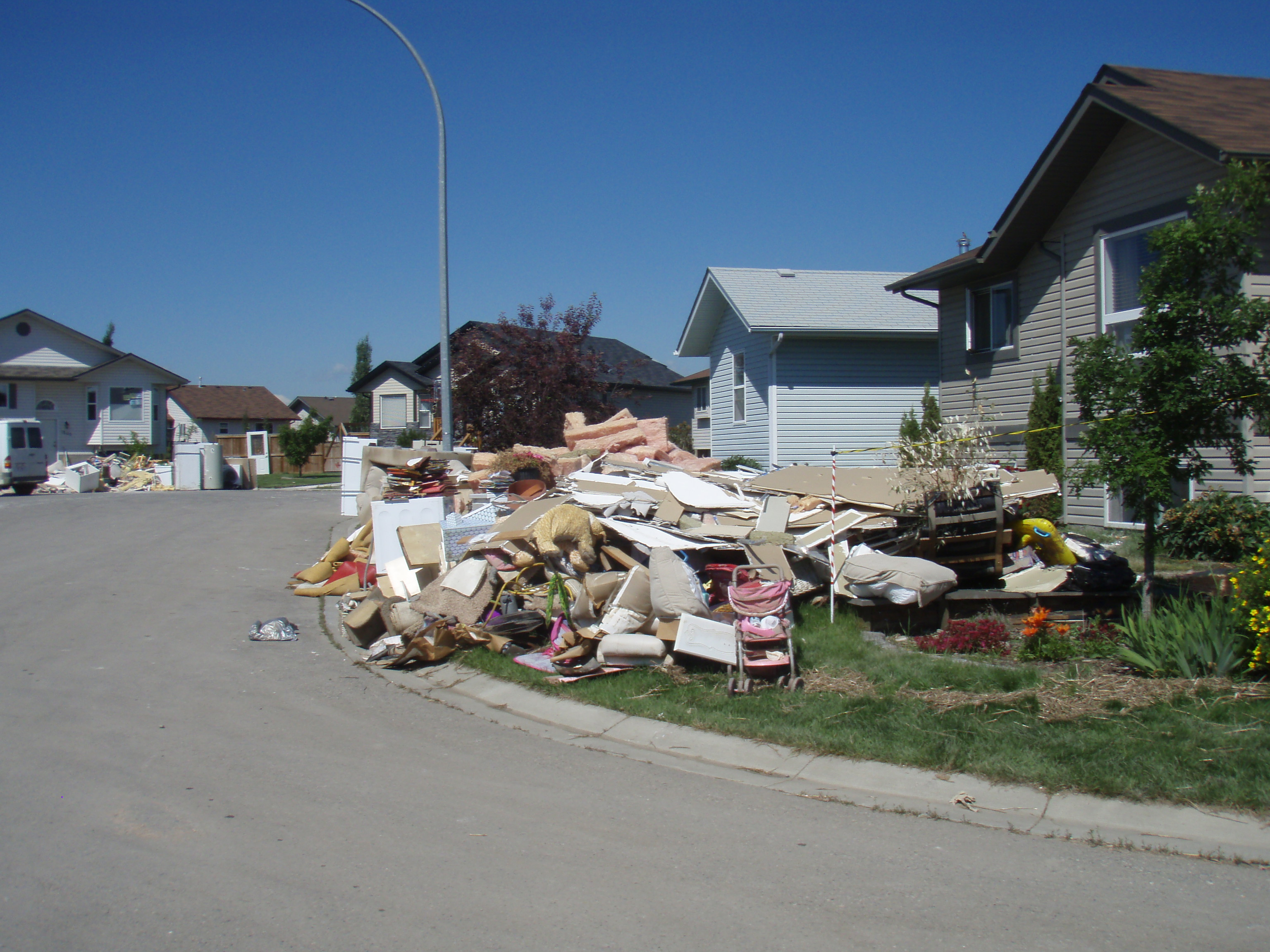high river flood damage