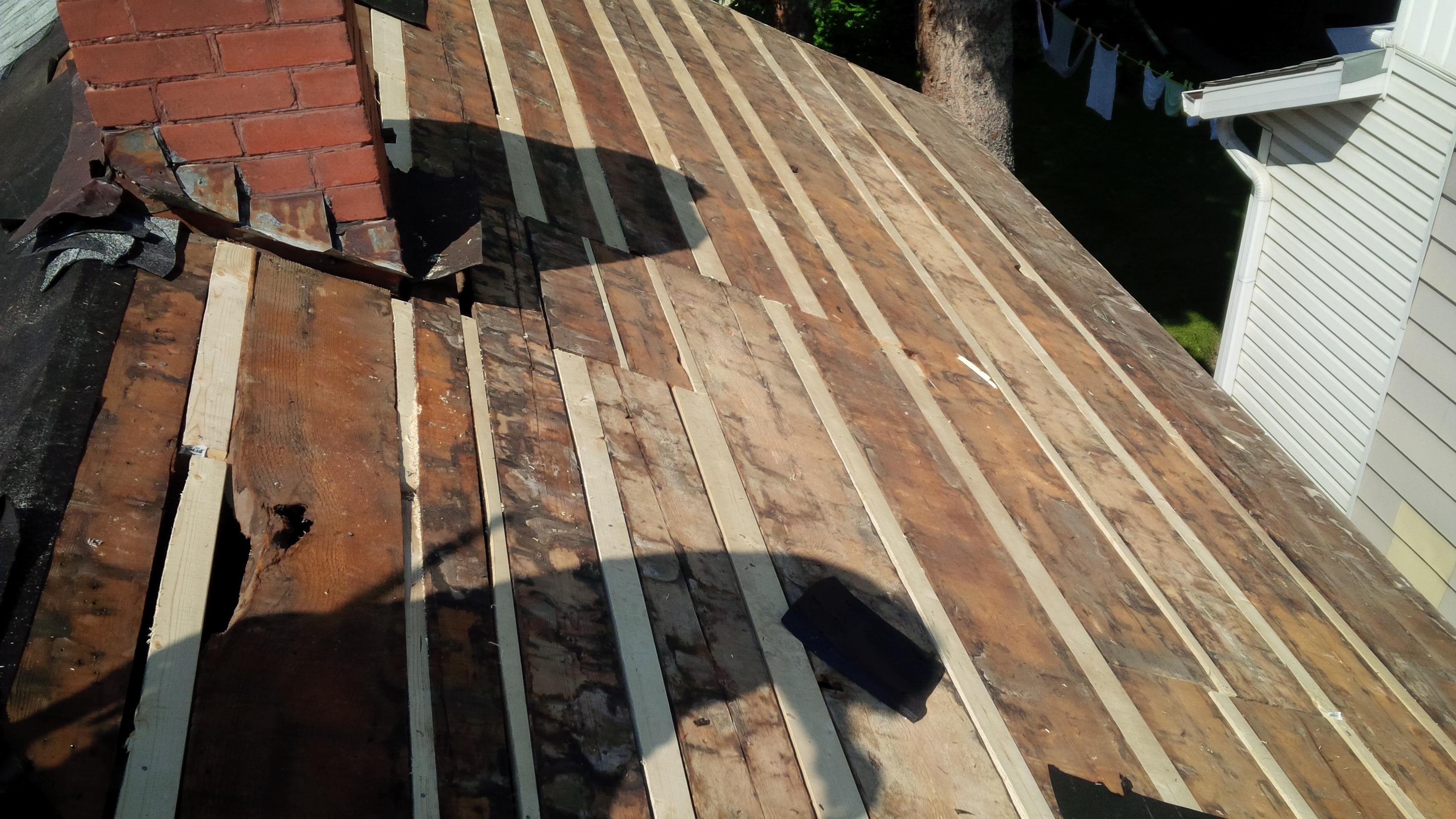 fills gaps in roof deck
