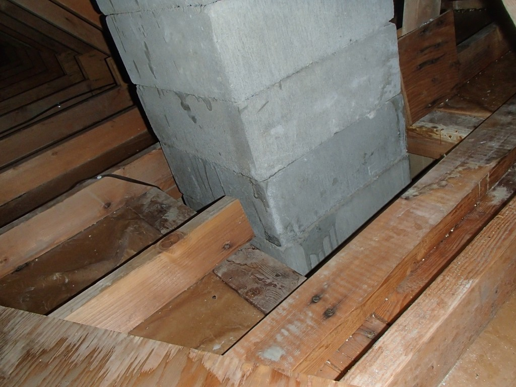 chimney void in attic