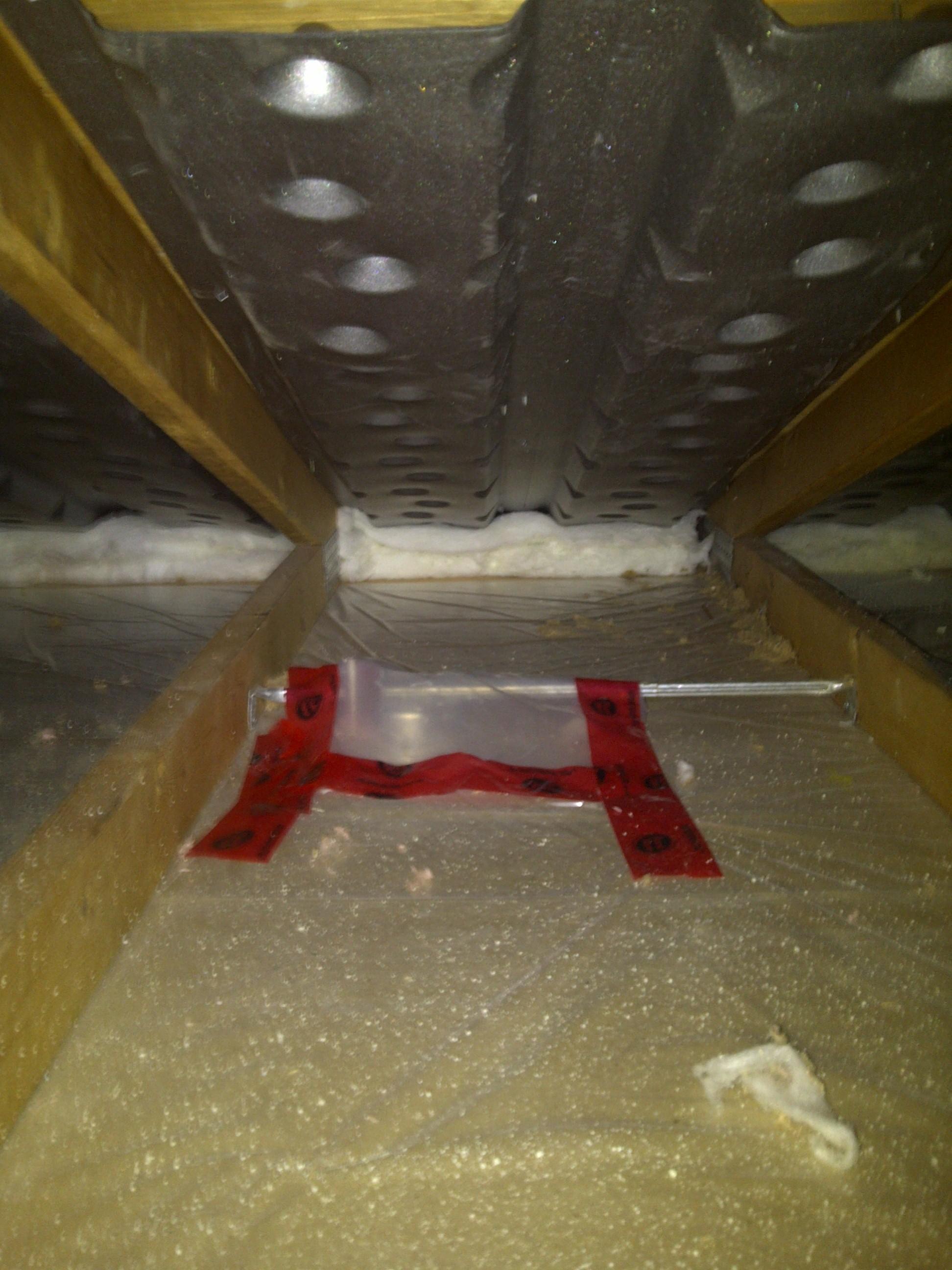air chute, batt underneath, poly vapor barrier