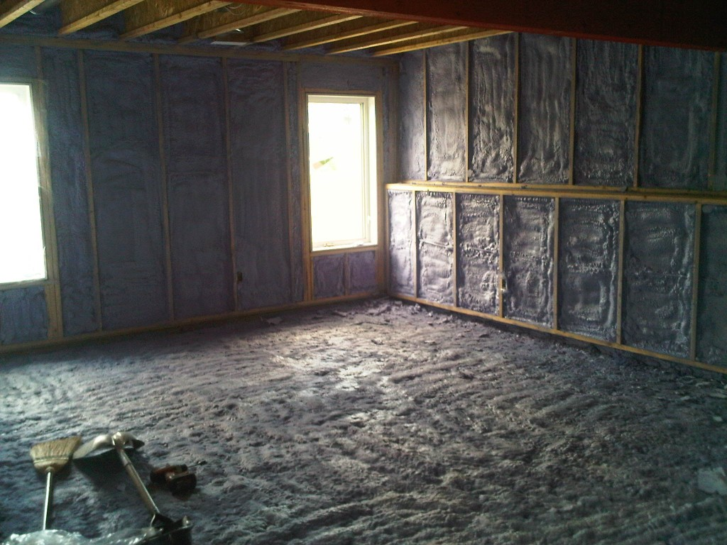 2 pound spray foam insulation walls & floor 2