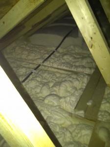 spray foam attic floor