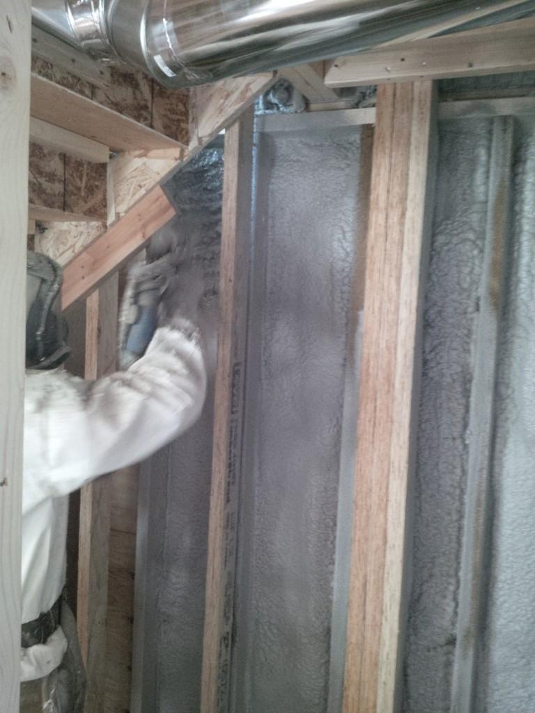 2lb closed cell spray foam install