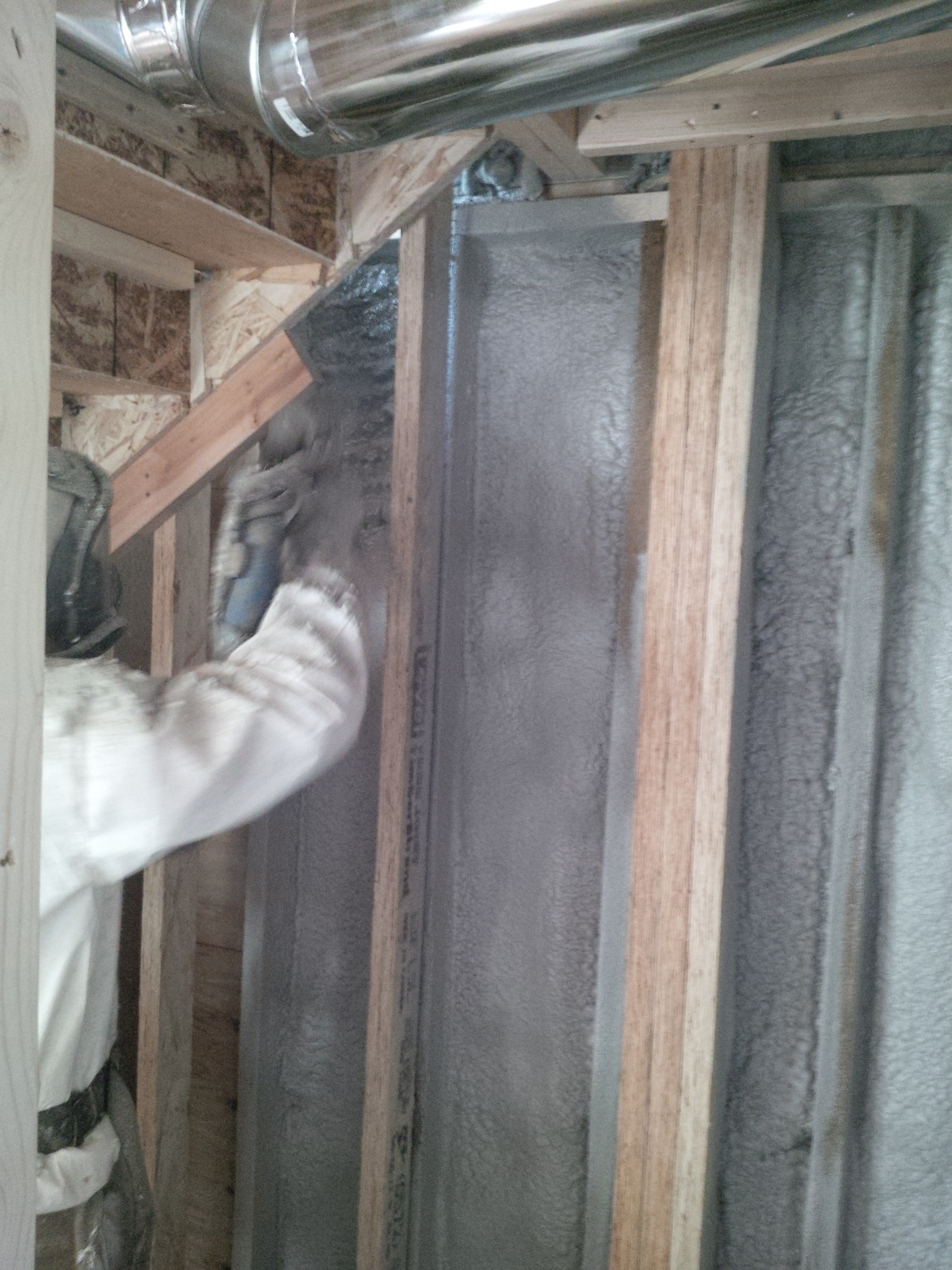2lb closed cell spray foam install