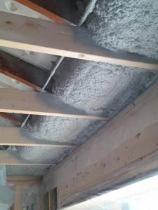 spray foam insulation installed under air chutes