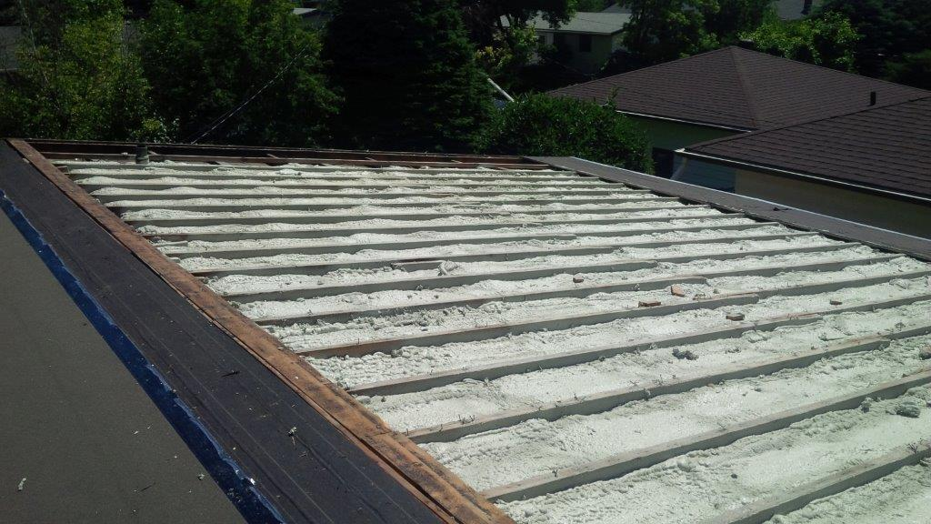 vaulted roof with spray foam